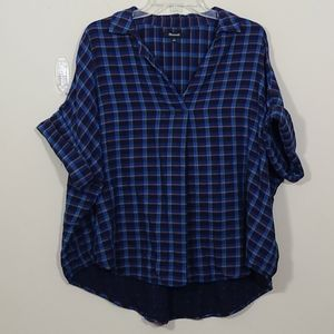 Madewell Double Faced Park Popover Shirt Plaid